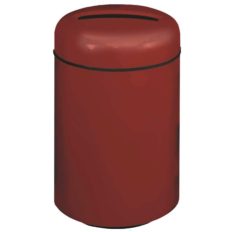 Rubbermaid FG1829PRBBY 20-gal Paper Recycling Receptacle - Fiberglass, Burgundy