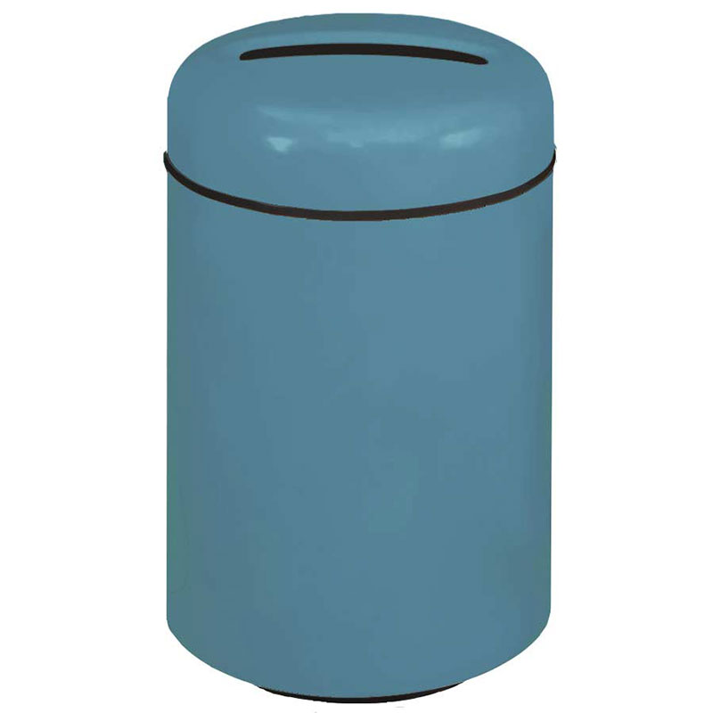 Rubbermaid FG1829PRBCBL 20-gal Paper Recycling Receptacle - Fiberglass, Country Blue