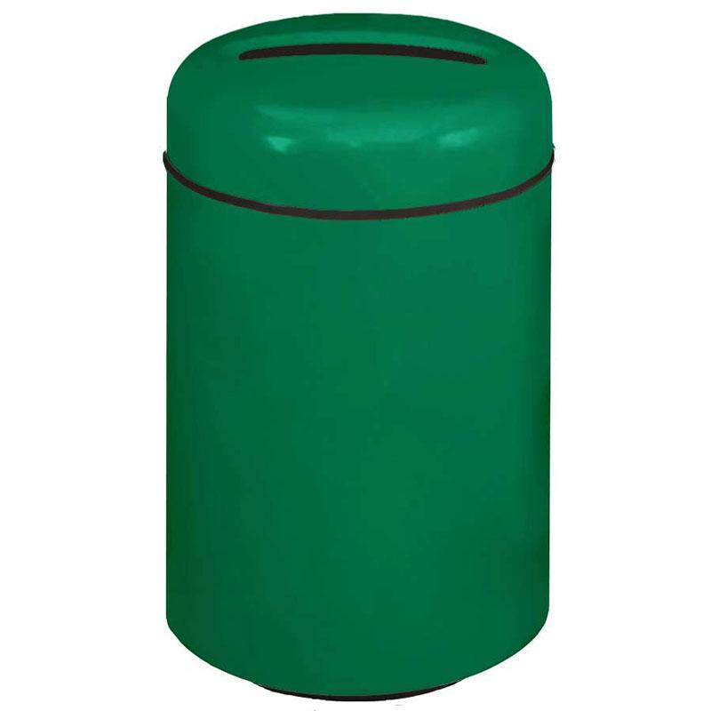 Rubbermaid FG1829PRBEGN 20-gal Paper Recycling Receptacle - Fiberglass, Empire Green