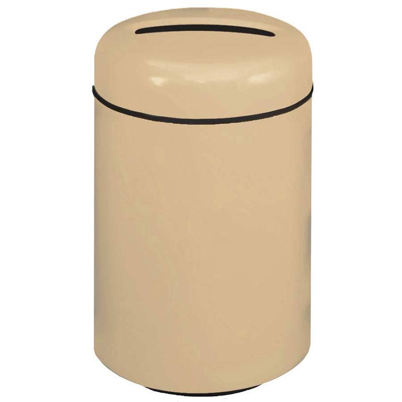 Rubbermaid FG1829PRBTN 20-gal Paper Recycling Receptacle - Fiberglass, Tan