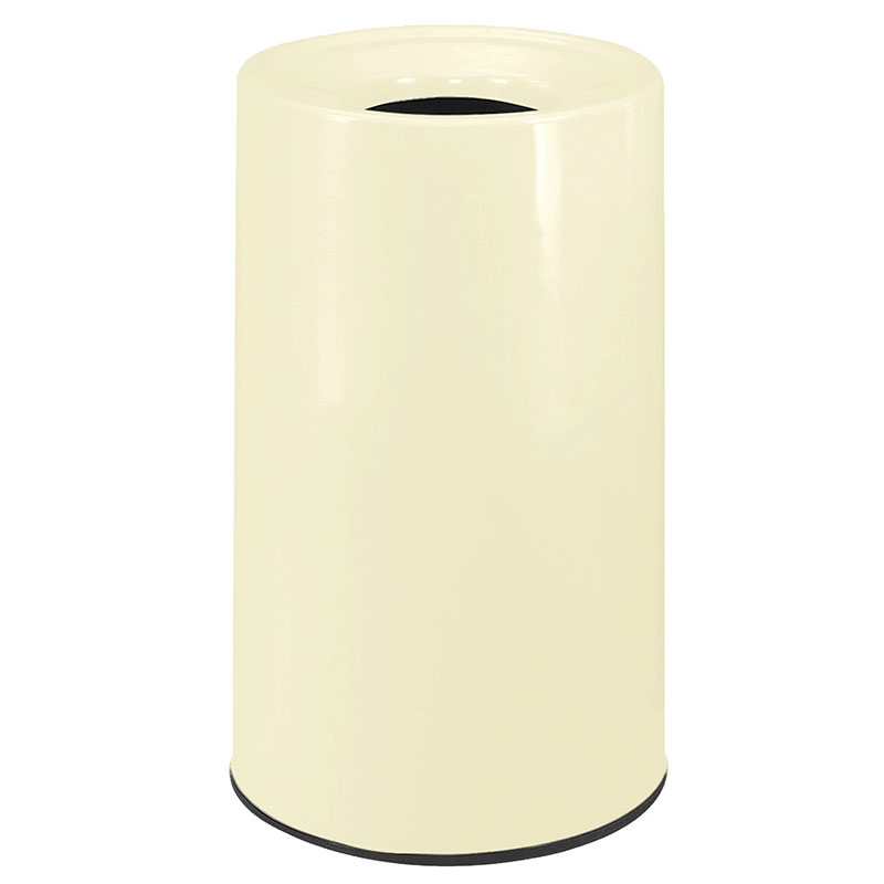 Rubbermaid FG1830LOPLAL 21-gal Waste Receptacle - Fiberglass, Almond