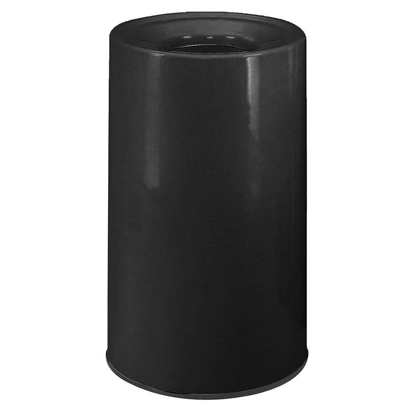 Rubbermaid FG1830LOPLBK 21-gal Waste Receptacle - Fiberglass, Black