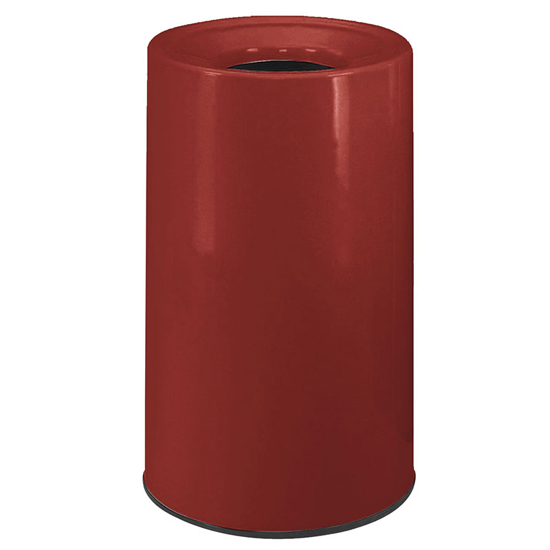 Rubbermaid FG1830LOPLBY 21-gal Waste Receptacle - Fiberglass, Burgundy