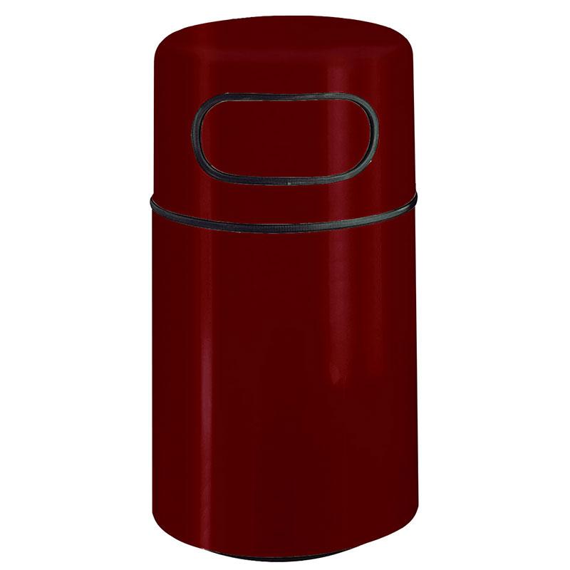 "Rubbermaid FGFG2439DRPLMN 32-gal Round Waste Receptacle - Fire-Safe, 24x39"" Fiberglass, Maroon"