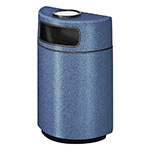 Rubbermaid FGFGH2436SUPLBB 18-gal Ash/Trash Receptacle - Half Round Open Front, Fiberglass, Blackberry
