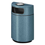 Rubbermaid FGFGH2436SUPLCBL 18-gal Ash/Trash Receptacle - Half Round Open Front, Fiberglass, Country Blue