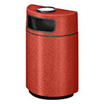 Rubbermaid FGFGH2436SUPLTRC 18-gal Ash/Trash Receptacle - Half Round Open Front, Fiberglass, Terra Cotta
