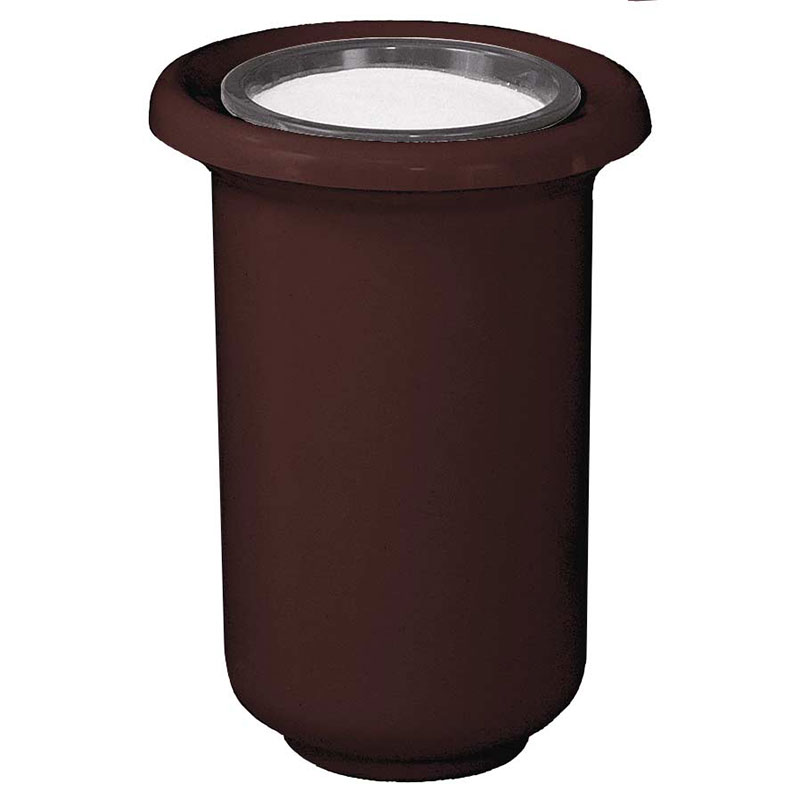 "Rubbermaid FGFGL1824GSUDBN Galleria Sand Top Urn - 18x24"" Fiberglass, Dark Brown"