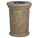 "Rubbermaid FGFGPF2419BISQ Milan Planter - 24x19"" Fiberglass, Bisque"