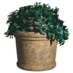 "Rubbermaid FGFGPF3025BISQ Milan Planter - 30x25"" Fiberglass, Bisque"