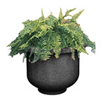 "Rubbermaid FGFGPL6018BK Galleria Round Planter - 60x18"" Fiberglass, Black"