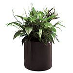 "Rubbermaid FGFGPM106BK Round Planter - Rimless, 10x6"" Fiberglass, Black"