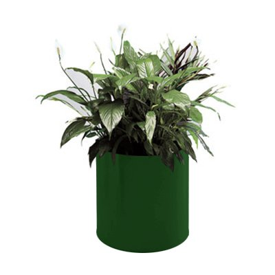 "Rubbermaid FGFGPM99EGN Round Planter - Rimless, 9x9"" Fiberglass, Empire Green"