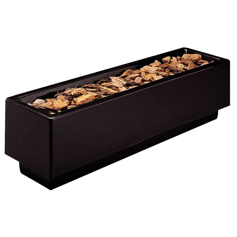 "Rubbermaid FGFGPN124812BK Rectangular Planter -12x48x12"" Fiberglass, Black"