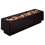 "Rubbermaid FGFGPN126021BK Rectangular Planter -12x60x21"" Fiberglass, Black"