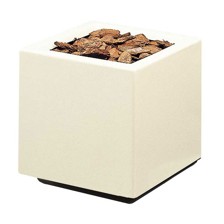 "Rubbermaid FGFGPO2020AL Square Planter -20x20x20"" Fiberglass, Almond"