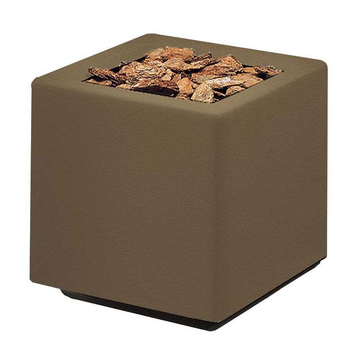 "Rubbermaid FGFGPO2020BZ Square Planter -20x20x20"" Fiberglass, Bronze"