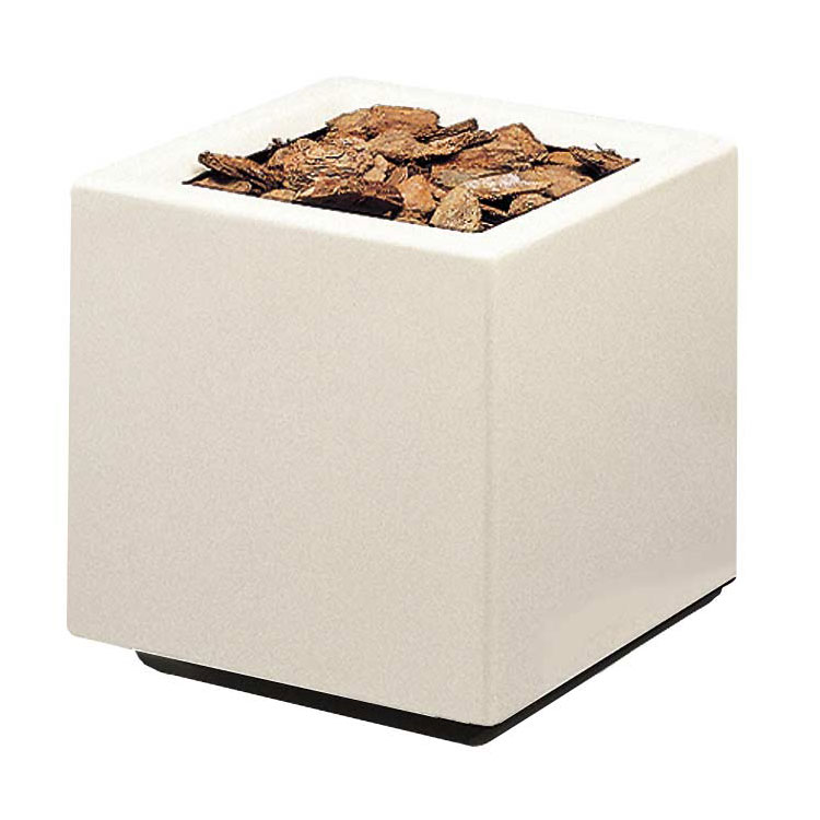 "Rubbermaid FGFGPO3636WH Square Planter -36x36x36"" Fiberglass, White"