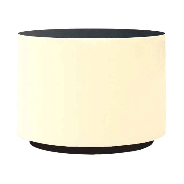 "Rubbermaid FGFGPP2424IV Return Rim Planter - Round, 24x24"" Fiberglass, Ivory"