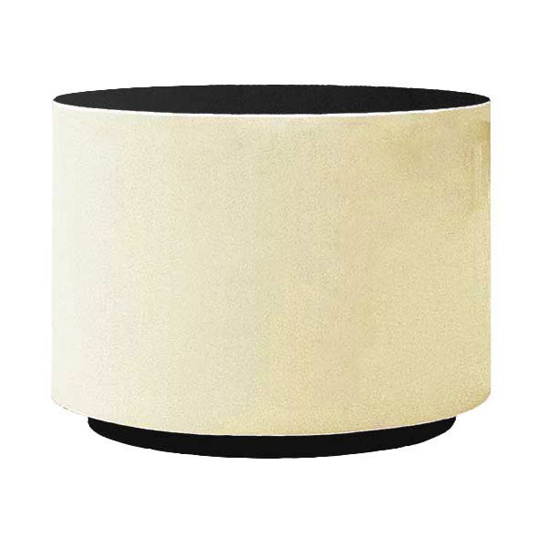 "Rubbermaid FGFGPP3021IV Return Rim Planter - Round, 30x21"" Fiberglass, Ivory"