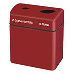 Rubbermaid FGFGR2416TPPLBY 32-gal Recycling Center - 2-Section, Fiberglass, Burgundy