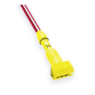 "Rubbermaid FGH236000000 60"" Gripper Wet Mop Handle - Aluminum/Yellow"