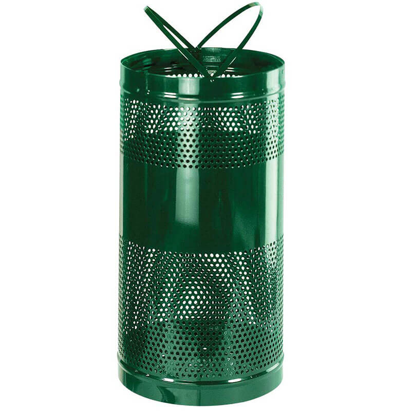Rubbermaid FGH3EGN 34 gal Outdoor Decorative Trash Can