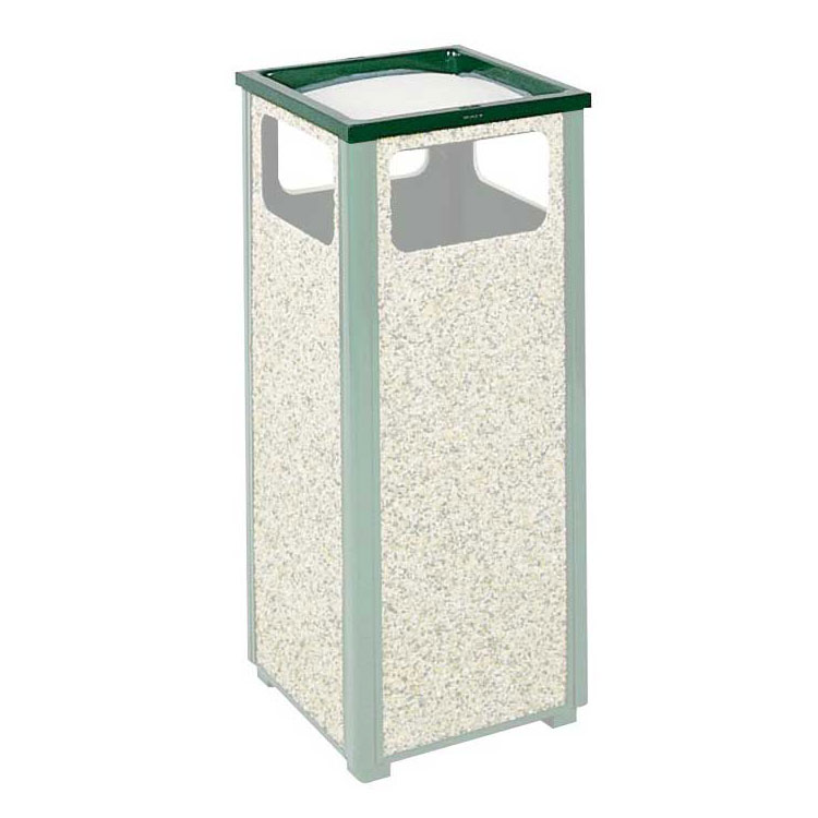 Rubbermaid FGHTA1SGR Trash Can Top Cigarette Receptacle - Outdoor Rated
