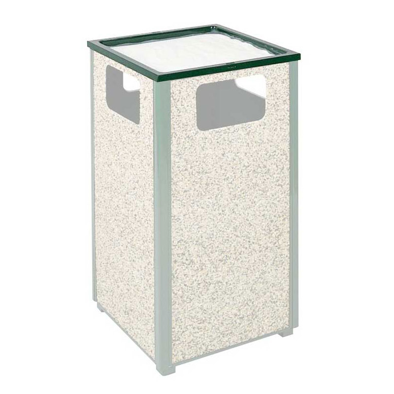 Rubbermaid FGHTA2SGR Trash Can Top Cigarette Receptacle - Outdoor Rated