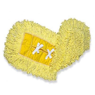 "Rubbermaid FGJ15100YL00 Trapper Dust Mop - 12x5"" Half-Tie Backing, Yellow"