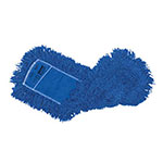 "Rubbermaid FGJ35200BL00 18"" Dust Mop Head Only w/ Twisted Loop Ends, Blue"
