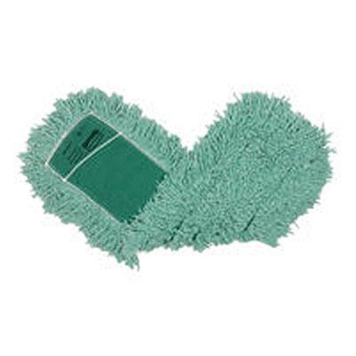 """Rubbermaid FGJ55300GR00 Dust Mop - 24x5"""" Slip-On/Slip-Through Backing, Green"""