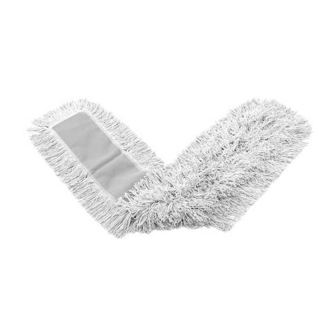 "Rubbermaid FGK15200WH00 Dust Mop - 18x5"" Cut-End, Envelope-End Backing, White"