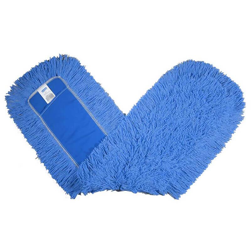 """Rubbermaid FGK15700BL00 Dust Mop - 48x5"""" Cut-End, Envelope-End Backing, Blue"""