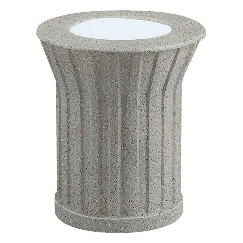 "Rubbermaid FGKSM107000 20"" Keystone Urn - Gray with Gray Concrete"