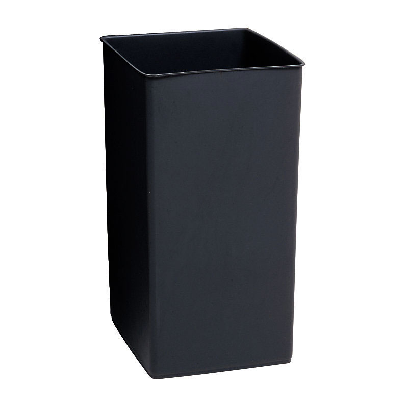 Rubbermaid FGL1530 12-gal Round Rigid Trash Can Liner, Plastic - Black