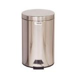 Rubbermaid FGMST35SSPL 3-1/2-gal Medi-Can Step Can - Rigid Plastic Liner, Stainless Steel