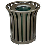 Rubbermaid FGMT22PLABZ 24-gal Outdoor Decorative Trash Can - Metal, Bronze