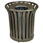 Rubbermaid FGMT32PLABZ 36-gal Outdoor Decorative Trash Can - Metal, Bronze
