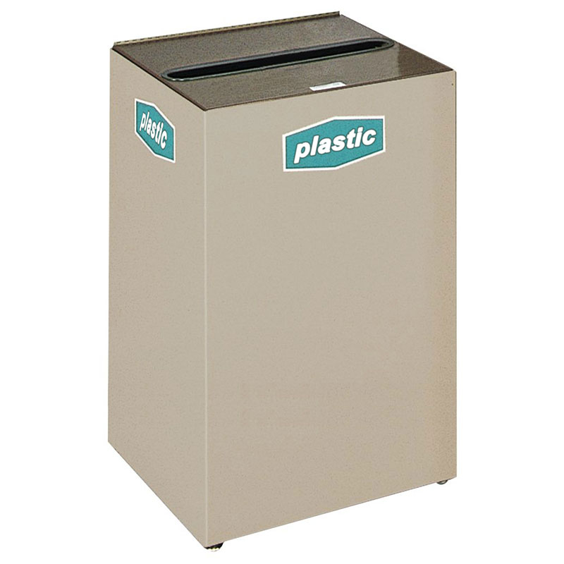 Rubbermaid FGNC24C3 22.5-gal Plastic Recycle Bin - Indoor, Decorative