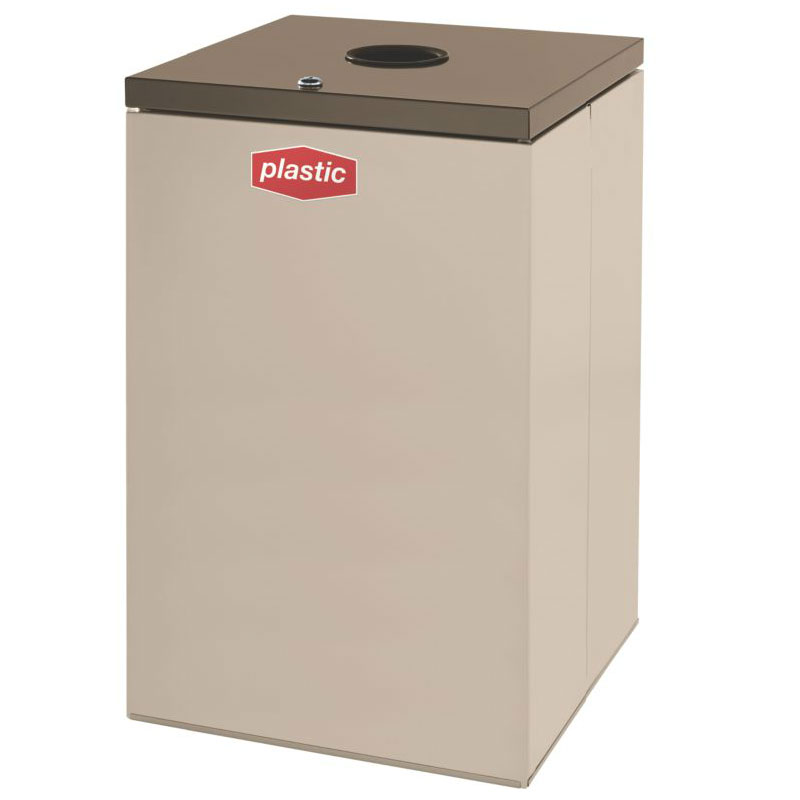 Rubbermaid FGNC24C3L 22.5-gal Plastic Recycle Bin - Indoor, Decorative