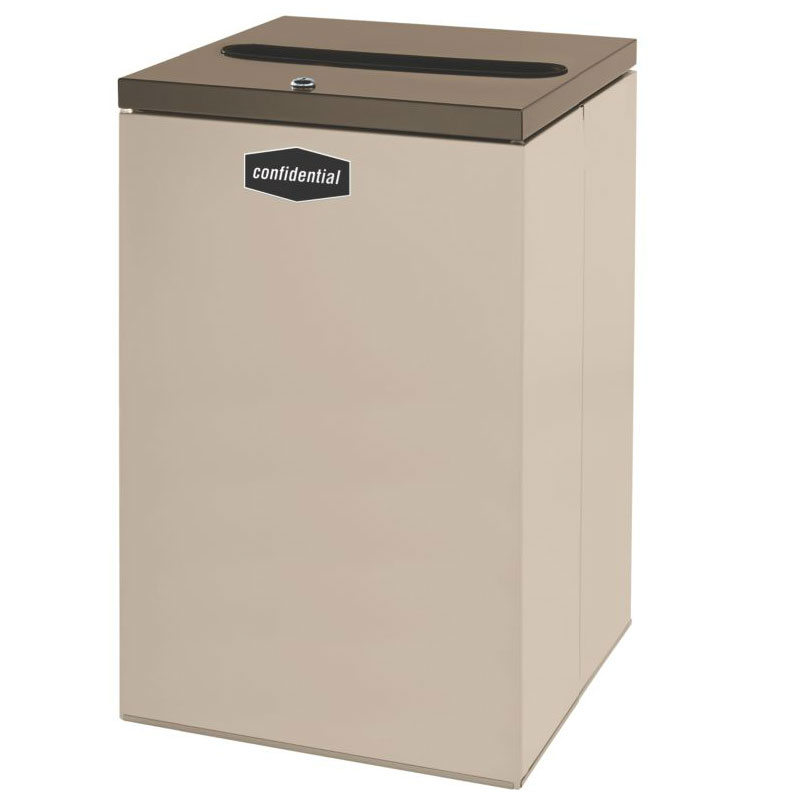 Rubbermaid FGNC24P11 22.5-gal Paper Recycle Bin - Indoor, Decorative
