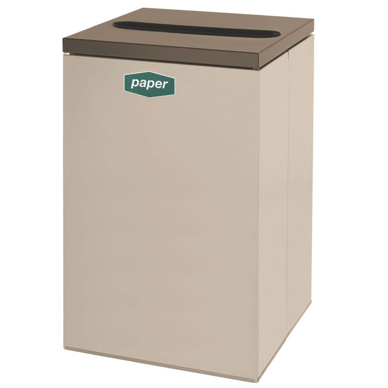 Rubbermaid FGNC24P5 22.5-gal Paper Recycle Bin - Indoor, Decorative