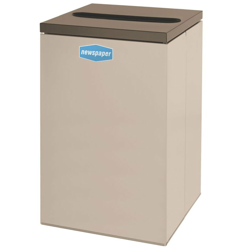 Rubbermaid FGNC24P6 22.5-gal Paper Recycle Bin - Indoor, Decorative