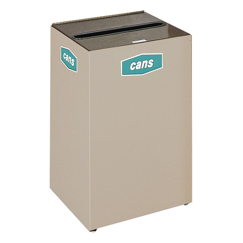 Rubbermaid FGNC24W2 22.5-gal Cans Recycle Bin - Indoor, Decorative
