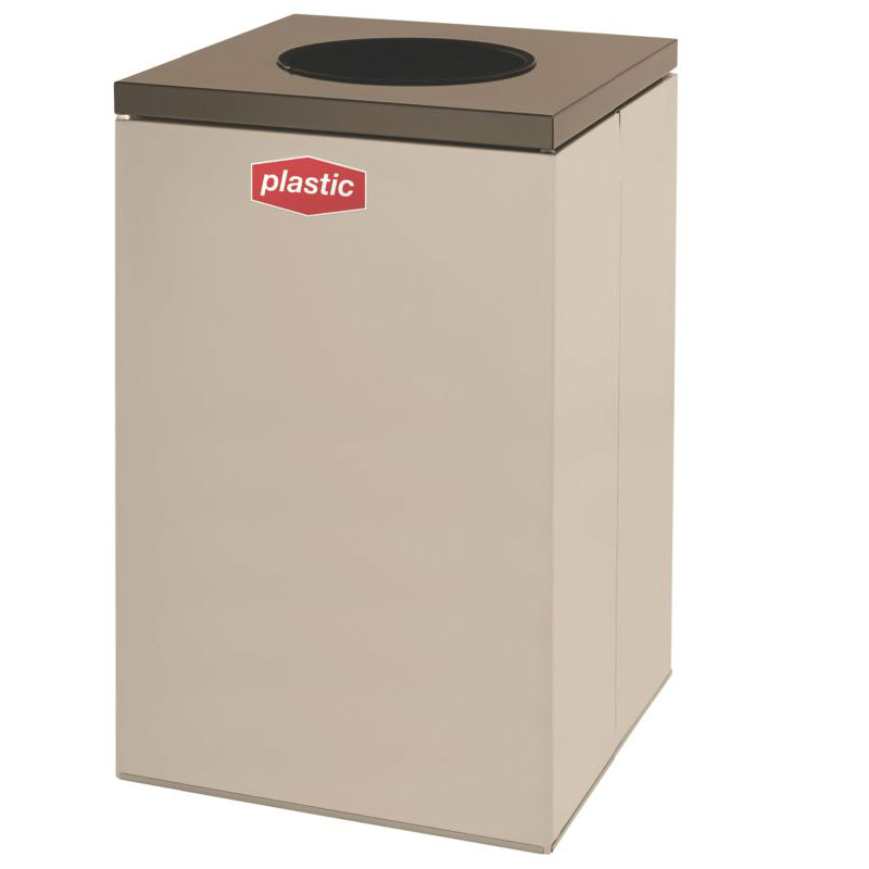 Rubbermaid FGNC24W3 22.5-gal Plastic Recycle Bin - Indoor, Decorative