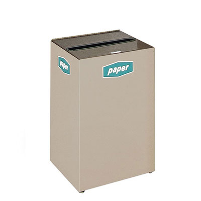Rubbermaid FGNC24W4 22.5-gal Multiple Materials Recycle Bin - Indoor, Decorative
