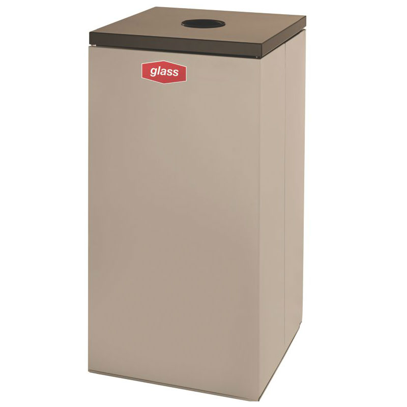 Rubbermaid FGNC30C1 28.5-gal Glass Recycle Bin - Indoor, Decorative