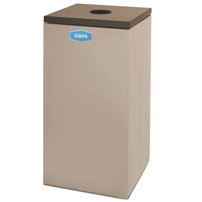 Rubbermaid FGNC30C2 28.5-gal Cans Recycle Bin - Indoor, Decorative