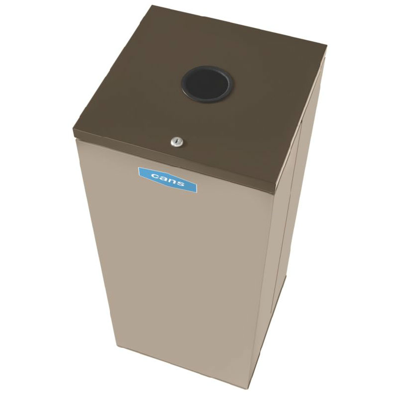 Rubbermaid FGNC30C2L 28.5-gal Cans Recycle Bin - Indoor, Decorative